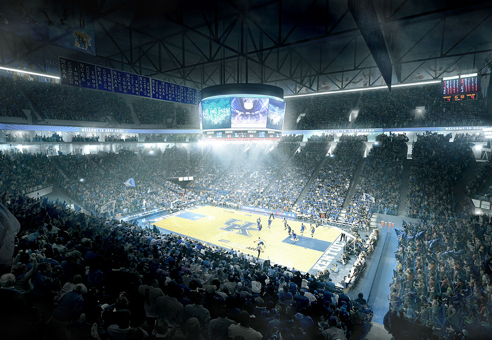NBBJ to Overhaul Lexington\u0027s Rupp Arena, Convention Center