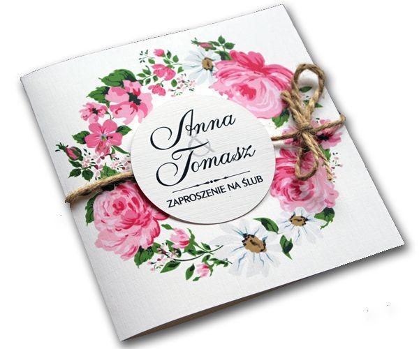 Zaproszenia ślubne na ślub zawiadomienia + koperta \u2022 Arenapl