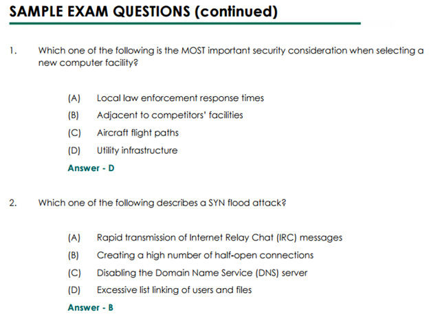 CISSP certification Are multiple choice tests the best way to hire