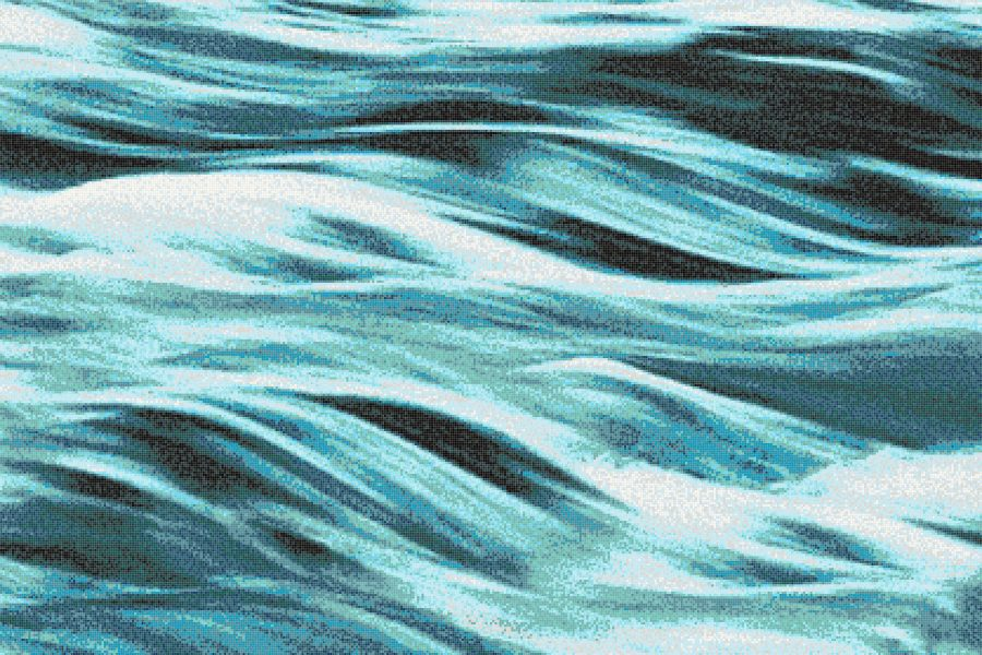 Turquoise Waves Tile Pattern Cascade Turquoise Dream By