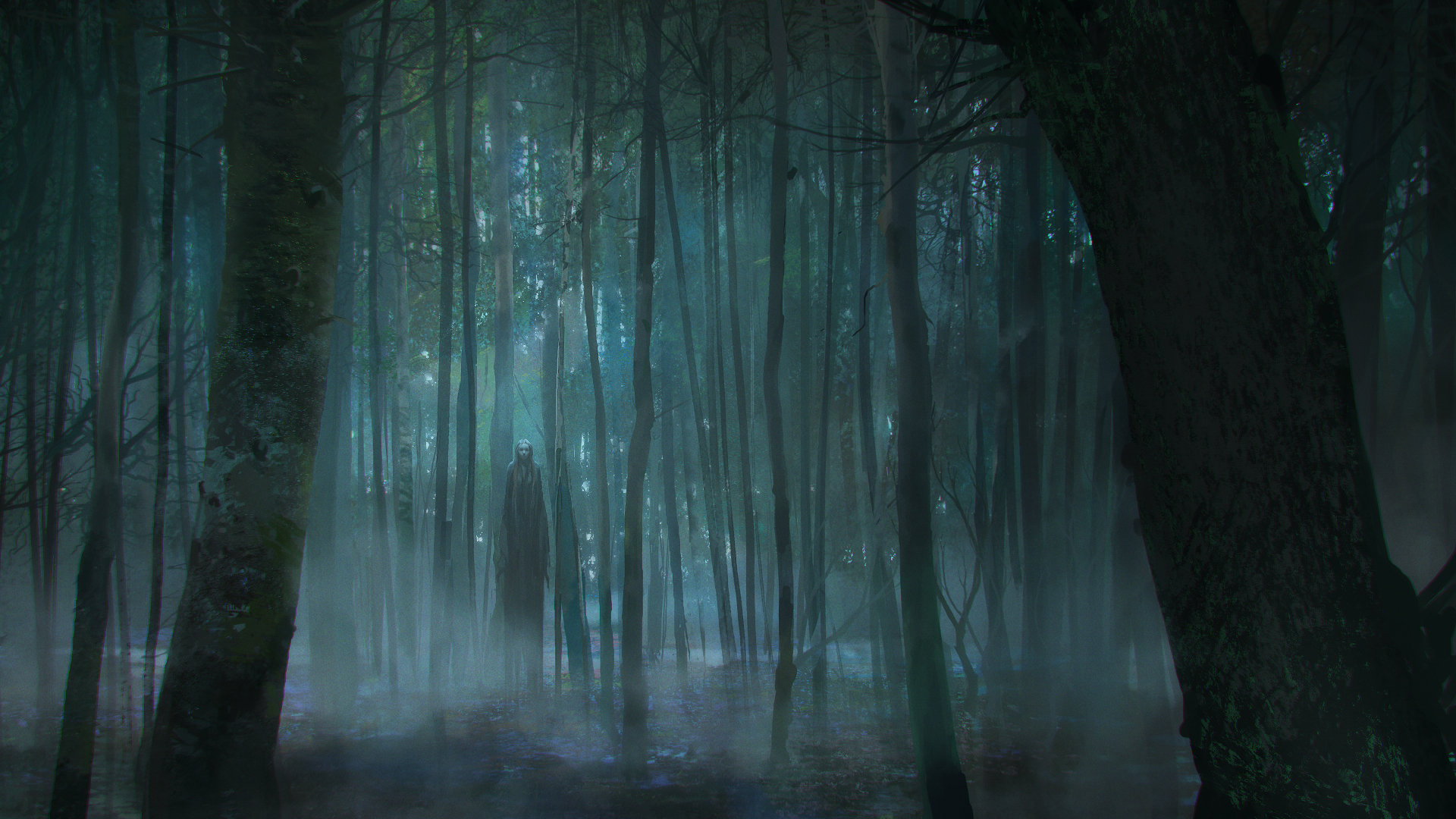 Fall Woodland Creatures Wallpaper Scary Forest By Viktor Titov Nyctohylophobia