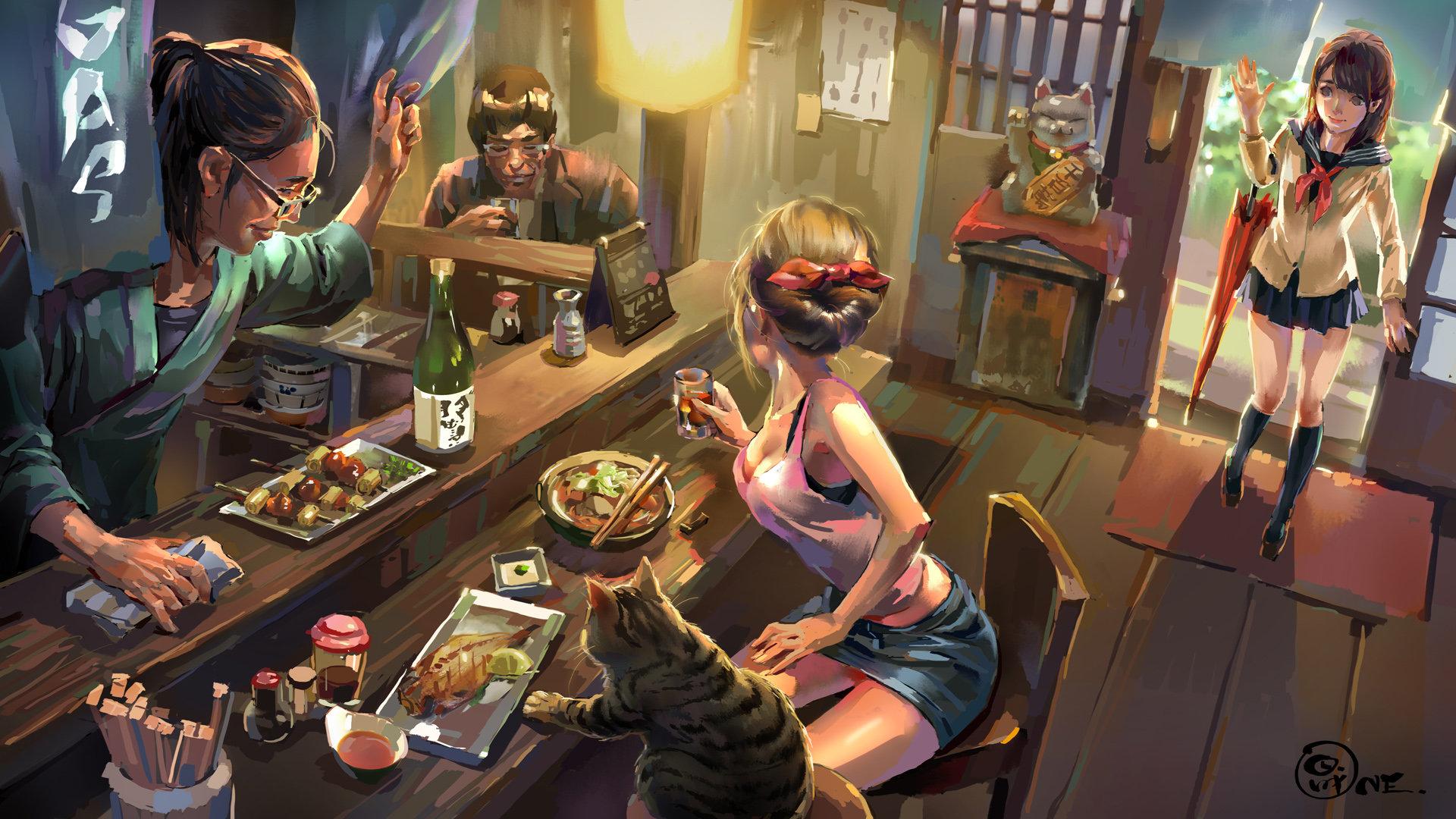 Facebook Wallpaper Girl Artstation Tavern Shengyi Sun