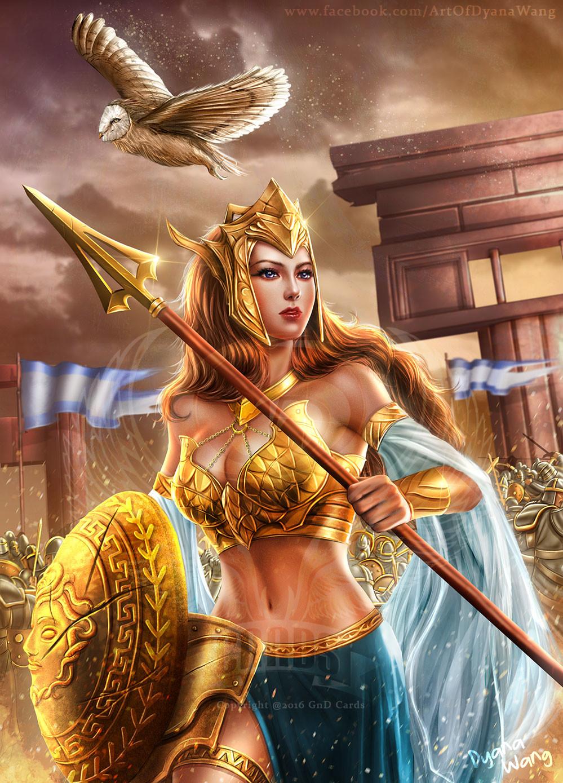 Beautiful Tattoo Girl Wallpaper Artstation Athena The Goddess Of Wisdom And War Dyana Wang