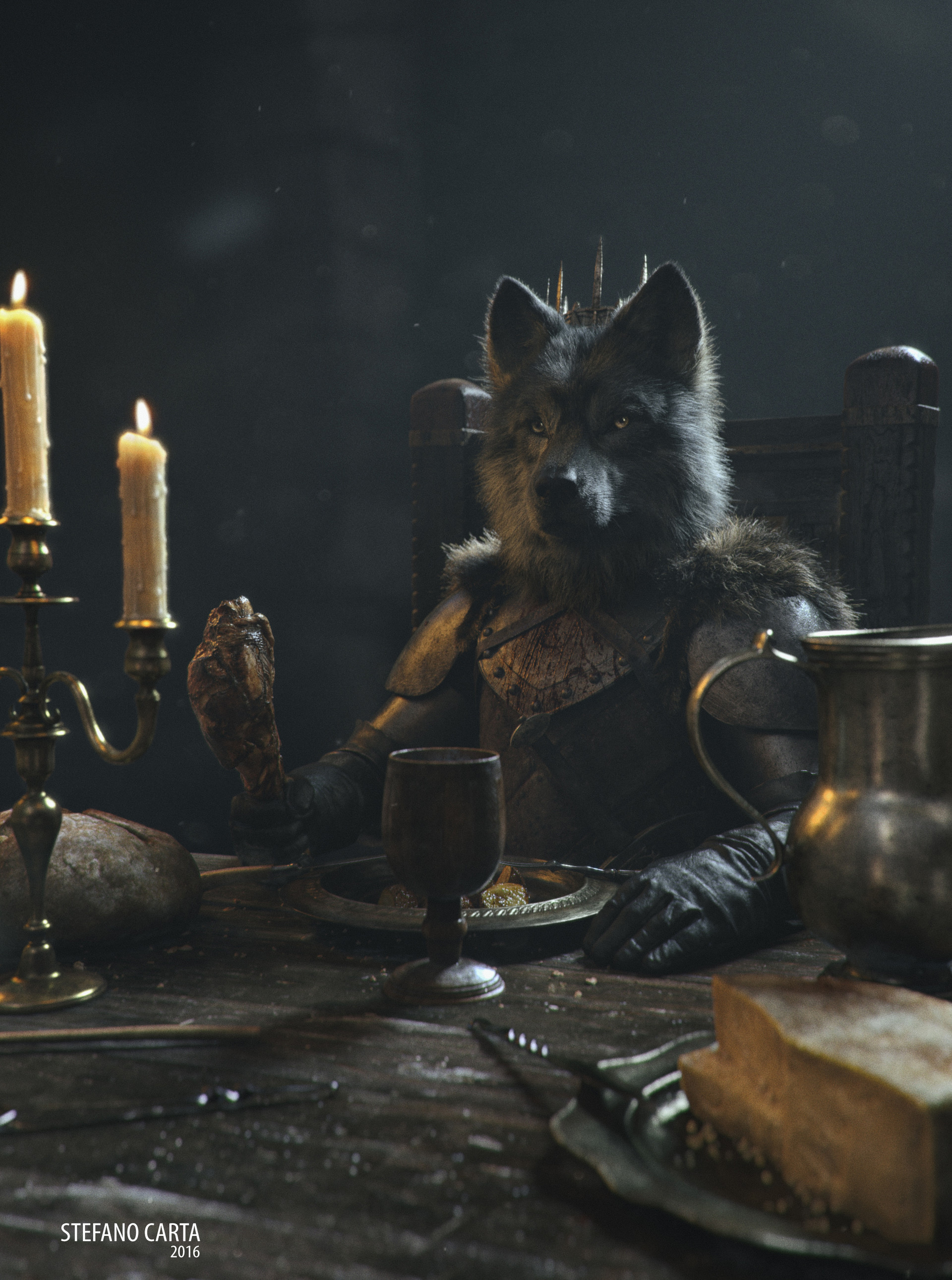 King Crown Hd Wallpaper Artstation The Young Wolf Stefano Carta