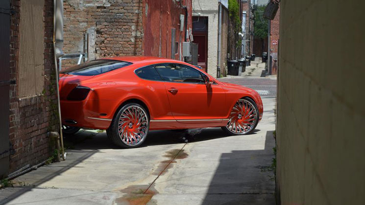 Dope Car Wallpapers Bentley Continental Gt On Asanti Wheels Rides Magazine
