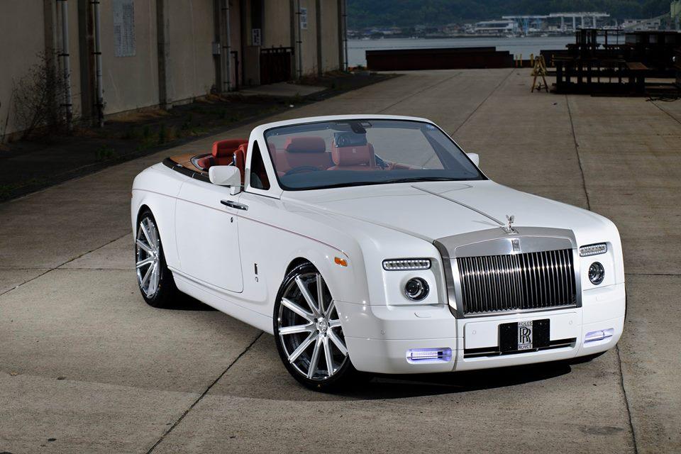 Dub Magazine Girls Wallpaper Rolls Royce Phantom Drophead On 22 Inch Lexani Wheels