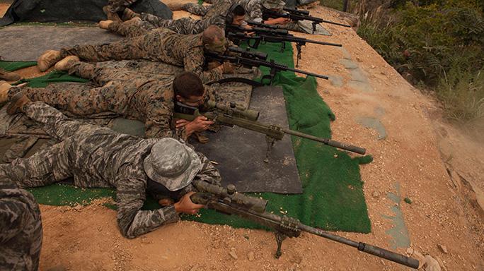 US, Korean Marines Exchange Scout Sniper Training at KMEP 2015