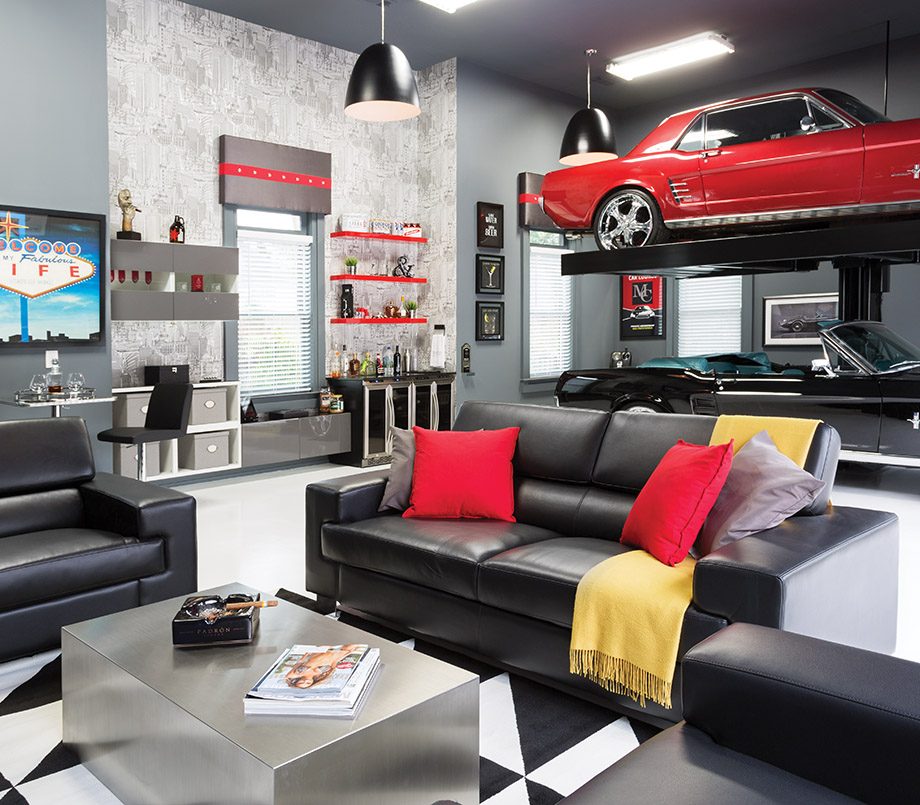 Project Cars Wallpaper Red Room Envy A Briarcliff Garage Becomes An Upscale Man Cave