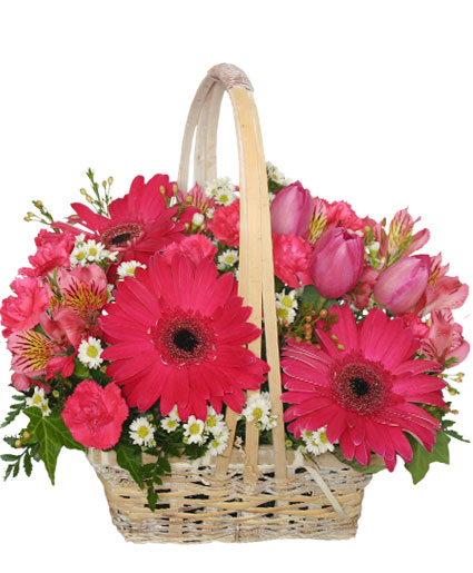 Best Wishes Basket of Fresh Flowers in Rincon, GA - New Life Florist