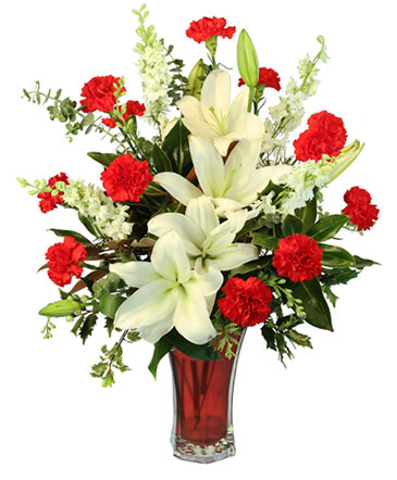 Starry Holiday Flower Arrangement in Lyford, TX - VARIETY FLOWERS