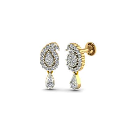 Flawless Diamond Drop Earrings