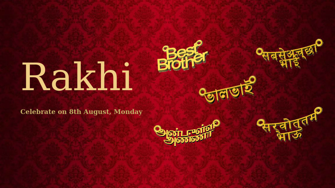 Rakhi 3d Name Wallpaper It S Rakhi Time Get Your Brother A Best Brother Pendant