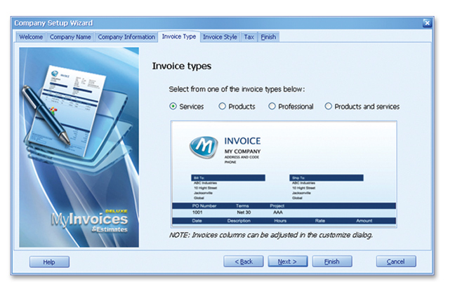 MyInvoices  Estimates Deluxe 10 Avanquest - Free Simple Invoice Software