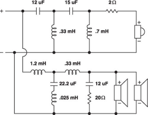 with 2 way speaker crossover wiring diagram
