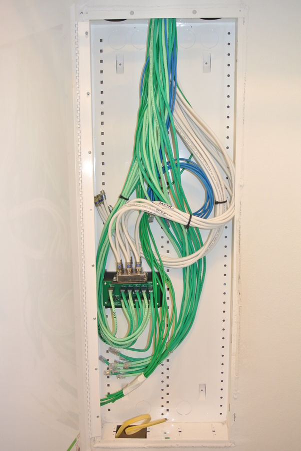 DirecTV  Comcast Install + Structured Wiring Cabinet Install