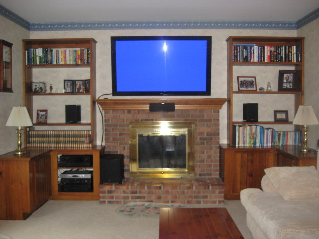 How High To Hang A Tv Center Channel Or Tv First In Over The Fireplace Install
