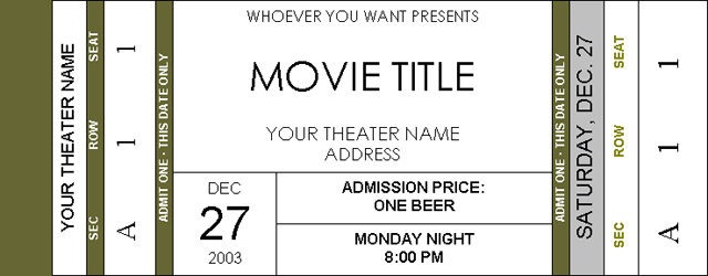 movie ticket template word free - Ozilalmanoof - movie ticket templates for word