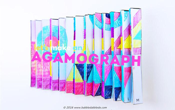 Math Art Idea Make an Agamograph - Babble Dabble Do