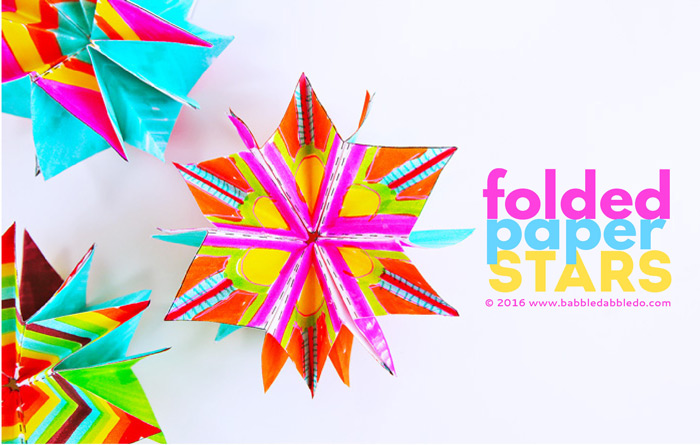 Mini Folded Paper Stars - Babble Dabble Do - stars template