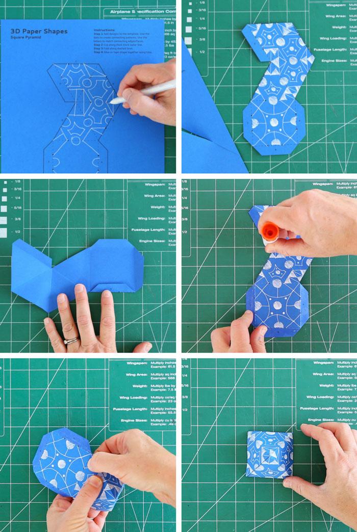 Math Art Idea 3D Geometric Shapes - Babble Dabble Do