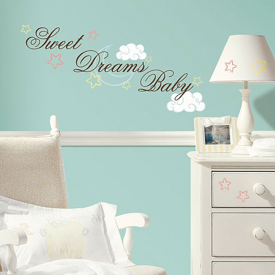 Baby Wandsticker Roommates Wandsticker Sweet Dreams Baby