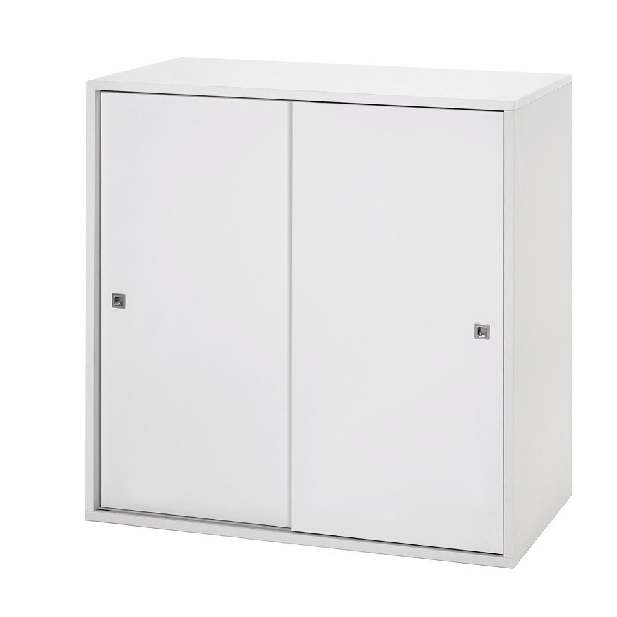 Commode Porte Coulissante Schardt Commode 2 Grandes Portes Coulissantes Clic Blanc