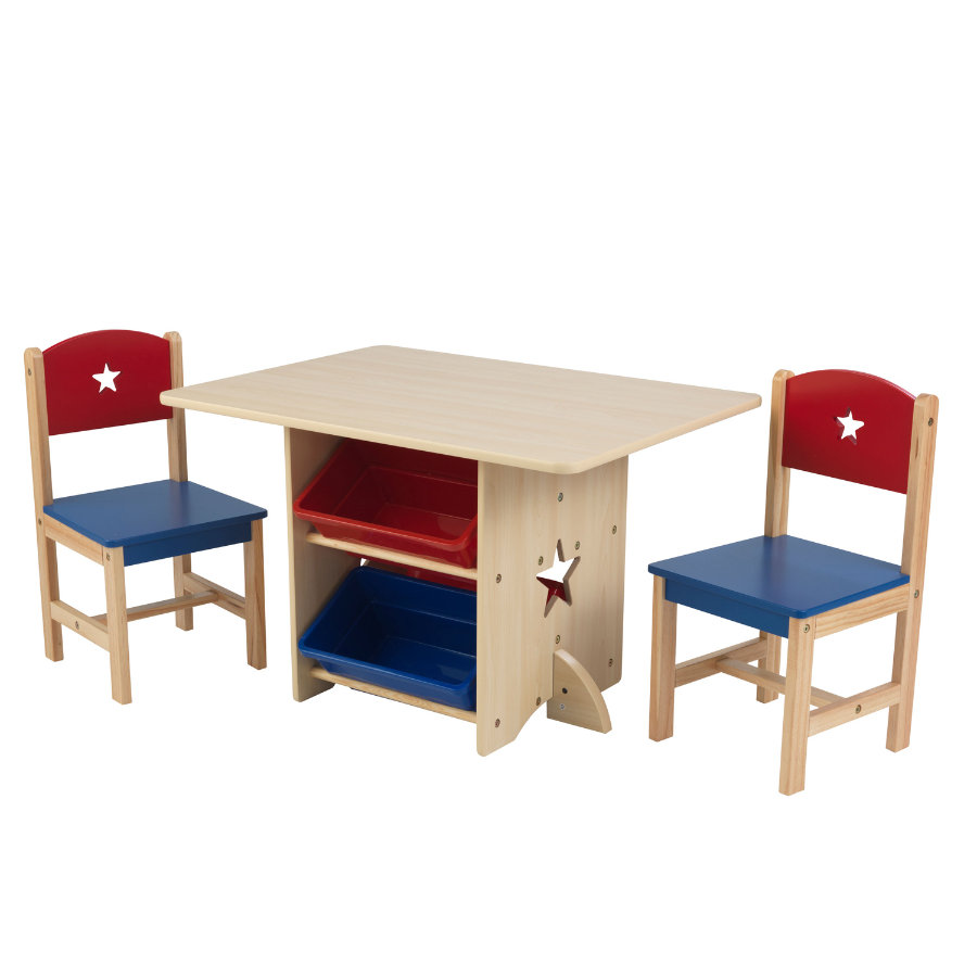 Ensemble Table Chaise Kidkraft Ensemble Table Chaise Étoiles Naturel