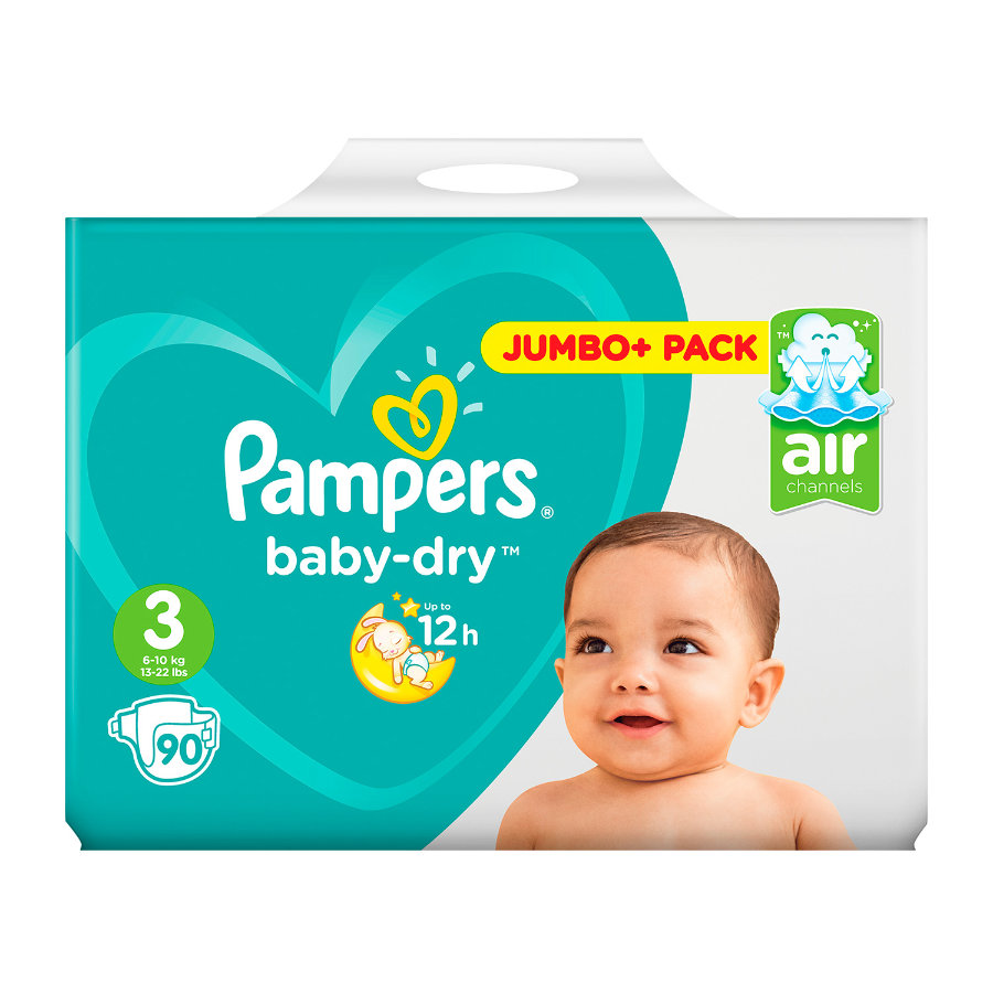 Couche Pampers Prix Pampers Couches Baby Dry Midi T 3 5 9 Kg Pack Jumbo Plus 90 Pièces