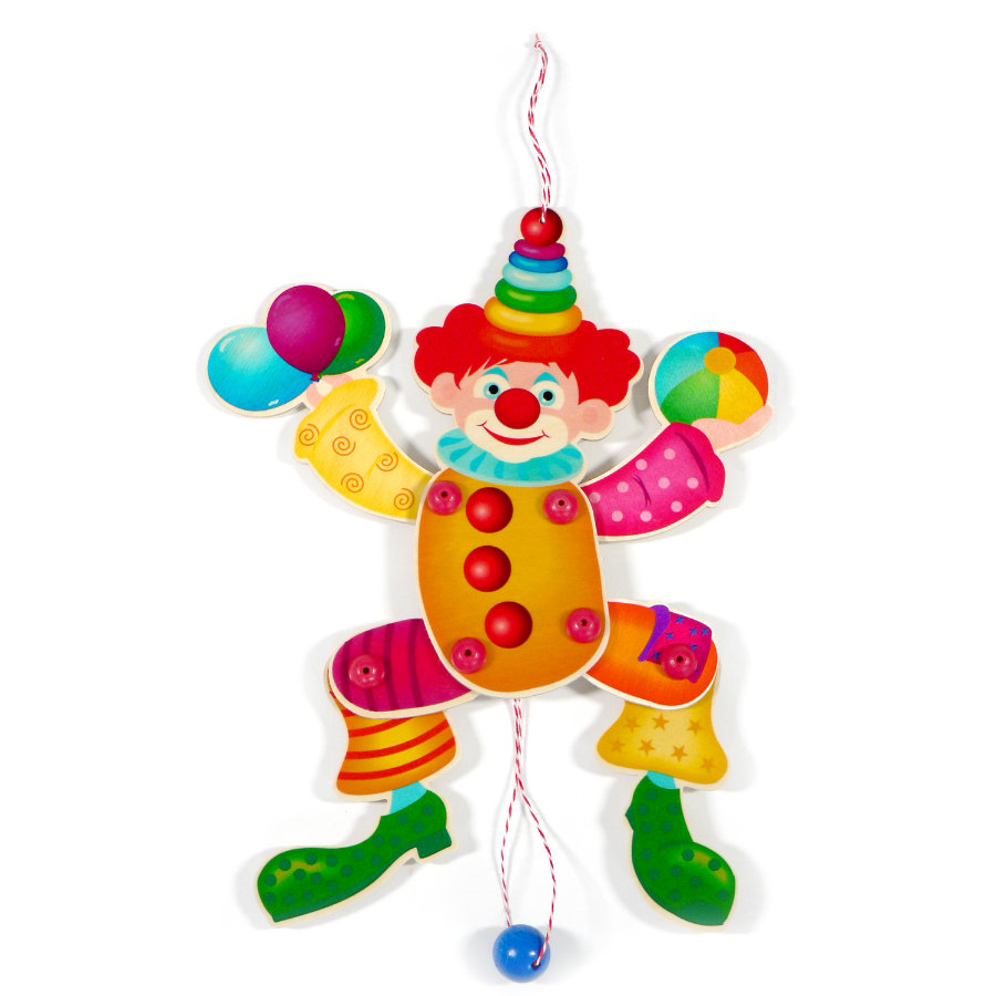 Wanddeko Clown Hess Hampel Clown Kunterbunt
