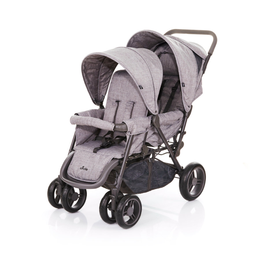 Kinderwagen Tweeling Maxi Cosi Abc Design Tweeling Duowagen Tandem Circle Woven Grey