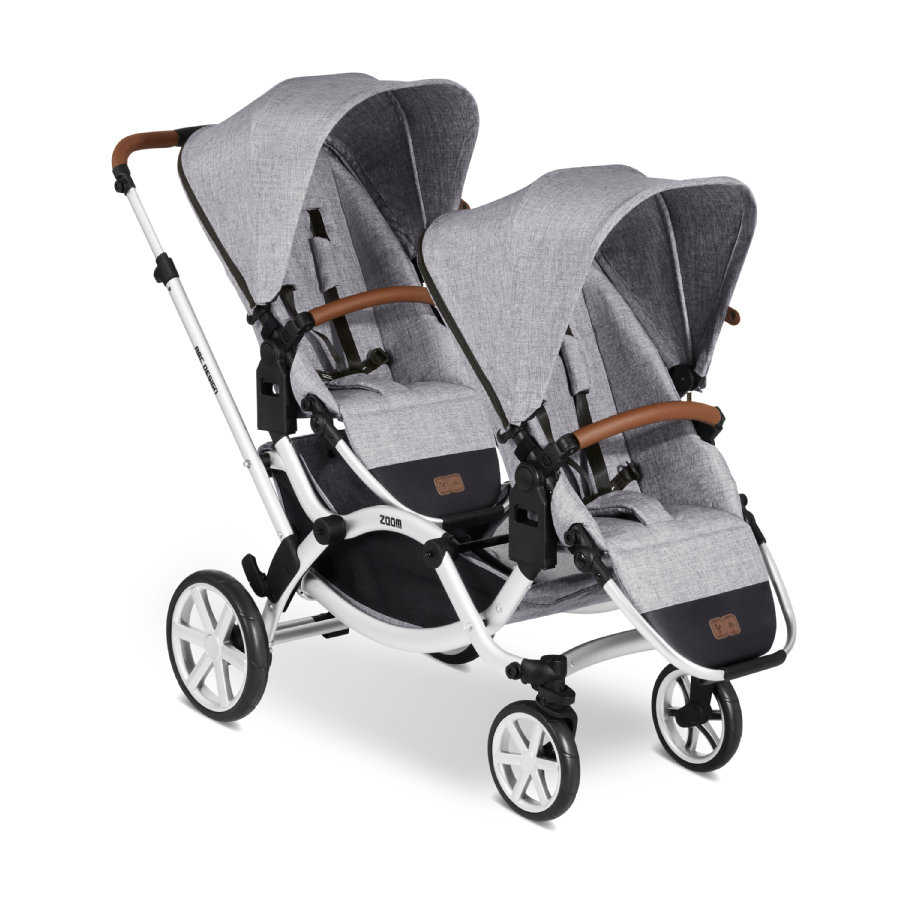 Tweeling Kinderwagen Abc Zoom Abc Design Zoom Duokinderwagen Graphite Grey 2020