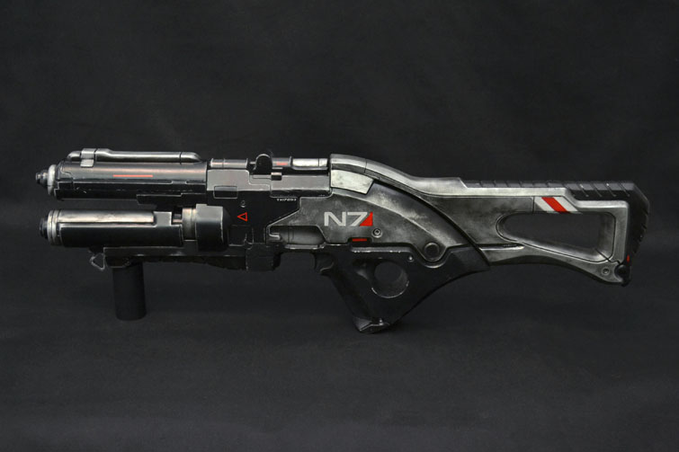 3d Effect Bookcase Wallpaper Mass Effect 3 The N7 Rifle Replica42concepts Amazing