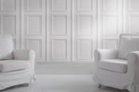 Iron, White panelling, Bookcase Wallpaper? No problem ...