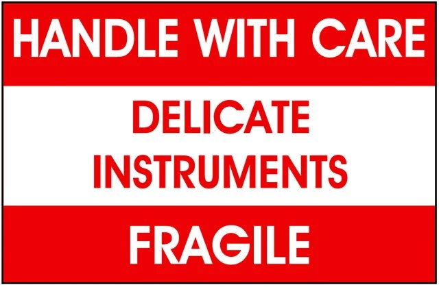 Packing Delicate Instruments Label - Best Price Available Online