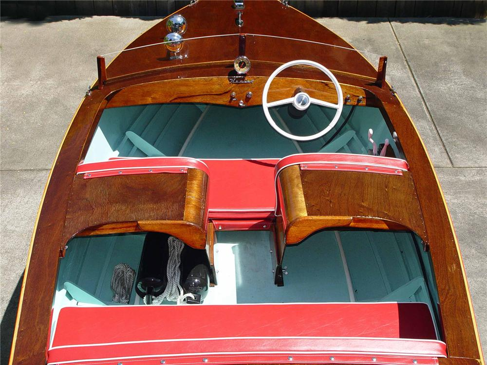 Home Staging Austin 1956 Healey Ski-master 15 Runabout Boat - 71836