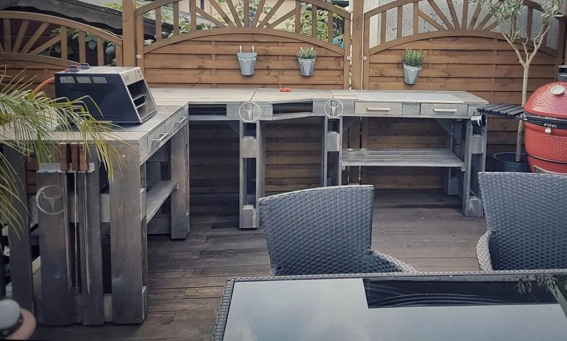Outdoor Küche Aus Europaletten : Paletten outdoor küche outdoor küche selber bauen paletten