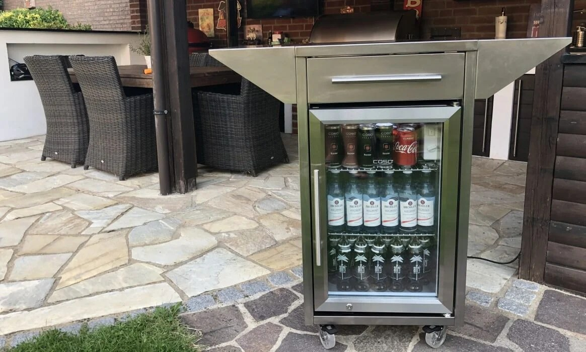 Grill In Outdoor Küche Integrieren Outdoor Kühlschrank Der Caso Barbecue Cooler Counter Cool