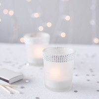 Rhinestone Frosted Votive Candle Holders, Frosted Glass ...