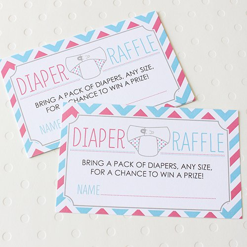 Baby Shower Diaper Raffle Game, Diaper Raffle Game, Shower Diaper