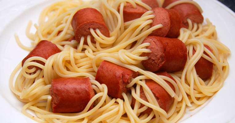 Hot Dog And Spaghetti Recipe