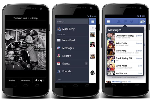 Facebook Mobile Updates iOS Android Apps