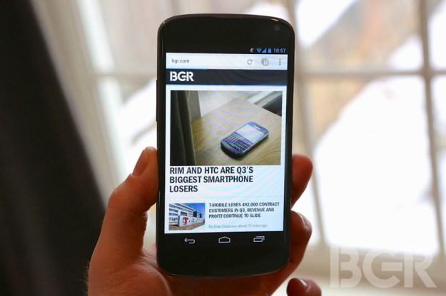 Nexus 4 Backordered