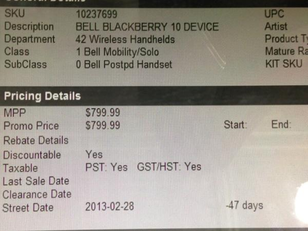 BlackBerry Z10 Release Date