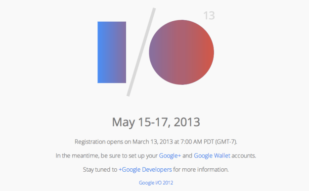 Google I/O Registration Date