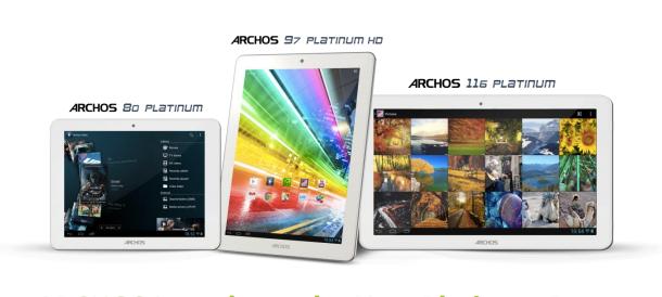 ARCHOS Platinum Tablets Specs Release Date
