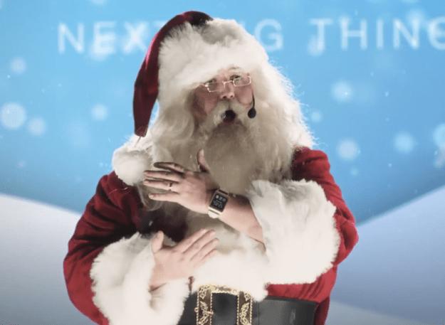 Samsung Galaxy Gear Ad Santa