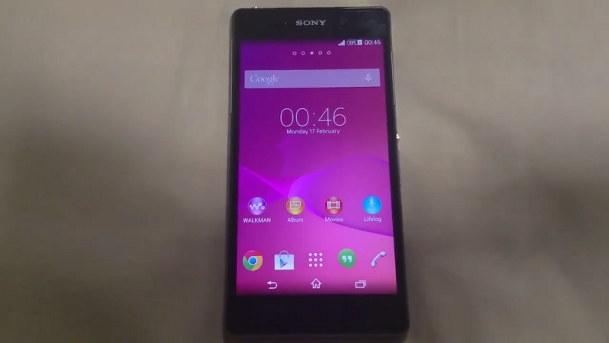 Sony Xperia Z2 Software Video