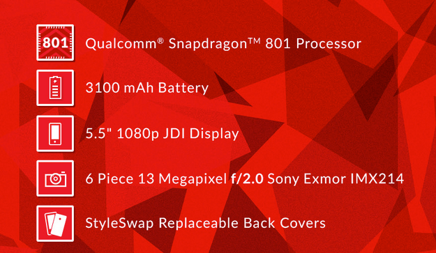 OnePlus One Specs: Qualcomm Snapdragon 801 CPU