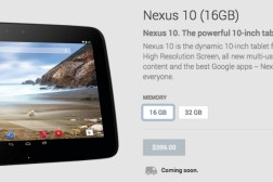 Nexus 10 Google Play Store Availability