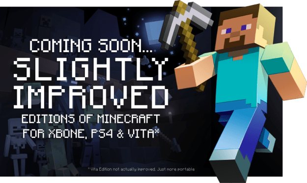 Minecraft PS4 Xbox One PS Vita Release Date